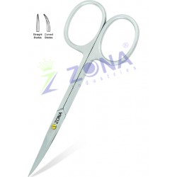 Stainless Steel Manicure Cuticle Pedicure Scissors Curved Finger Toe Nail Cutter